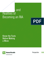 Myths Realities of becoming a RIA