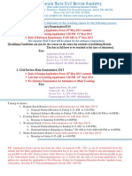 Kerala State Civil Services Academy - Courses - 2013