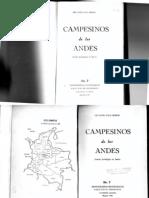FALS BORDA Orlando Campesinos de Los Andes