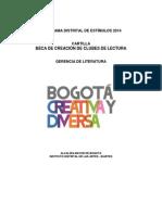 Cartilla Beca de Creacion Clubes de Lectura 2014 0