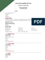 Gulfood Exhibitor List n 1