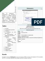 Mathematica - Wikipedia, La Enciclopedia Libre