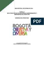 Cartilla Beca Para Proyectos Editoriales Independientes y Emergentes 2014