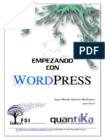 Empezando Con Wordpress