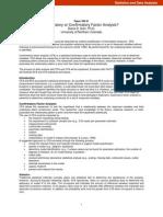 Exploratory or Confirmatory Factor Analysis