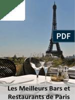 Selection Bars Restaus Paris