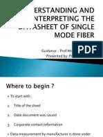 Understanding and Interpreting the Datasheet of Single Mode