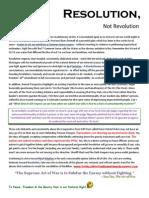 Resolution, Not Revolution