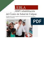 28-02-2014 Milenio.com - Inaugura RMV rehabilitación del Centro de Salud de Calipan