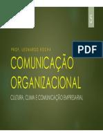 Aula 5 - Cultura, Clima e Comunicação Empresarial