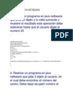 Ejemplos Java Netbeans