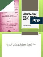 GENERACIÓN DE LA REVISTA MITO