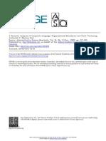 A Semiotic Analysis of Corporate Language- Organizational Boundaries and Joint Venturing