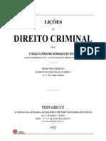 1872 - SOUZA, Braz Florentino - Licoes de Direito Criminal