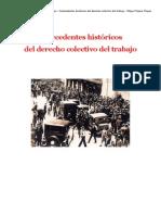 Antecedentes Historicos Del Derecho Colectivo de Trabajo