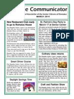 Communicator Senior Newsletter - March 2014