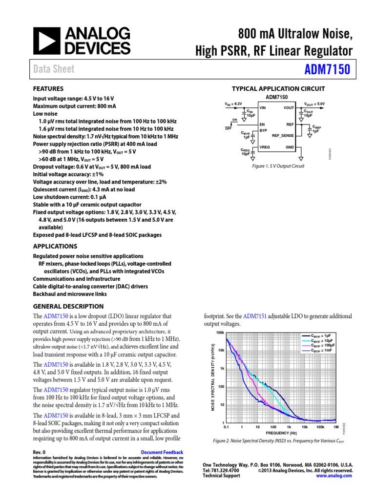 1.7 V to 5.5 V in 5 X Fixed LDO Voltage Regulator 1.35 V and 300 135 mV drop