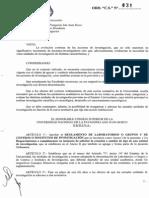Ord CS N° 131_Reglamento de laboratorios, grupos y centros o institutos de investigación