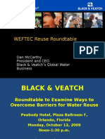 WEFTEC.09 Reuse Roundtable