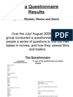 Media Questionnaire Results Update