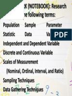 Homework in Statistics (Notebook)