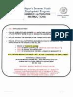 2014 Youth Employment Program Application