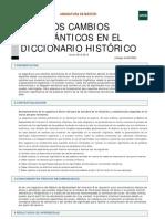 los cambios semánticos en el diccionario histórico