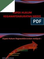 Aspek Hukum Kegawatdaruratan Medis