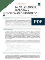 Historia de la lengua, filología y diccionario histórico