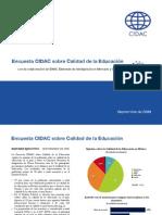 Encuesta CIDAC Sobre Calidad de La Educaci n PDF