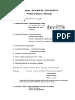 Dinâmicas para VOZ e EXPRESSÃO I – 2012