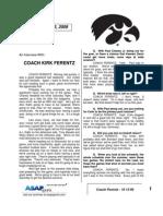 Coach Ferentz - 10 13 09