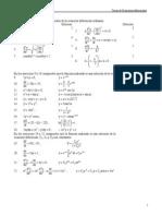 Ejercicios de Ecuaciones Diferenciales y Ordinarias