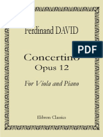 Ferdinand David - Concertino Viola and Piano Op 12