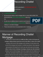 Manner of Recording Chattel Mortgage