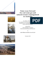 An Analysis of CSG Production and NRM in Australia Oct 2012 SUMMARY