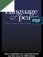 Language and Peace War Amp Peace