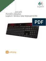 Wireless Solar Keyboard k750 Gsw