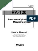 Ra 120 Manual Usuario Ingles Ba126501