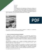 El petróleo y su impacto ambiental