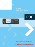 Motorola TETRA MTM5400 Feature User Guide