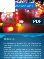 Fotodiodo APD Exposicion