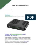 Cómo Configurar WiFi en Modem Cisco DPC 2420