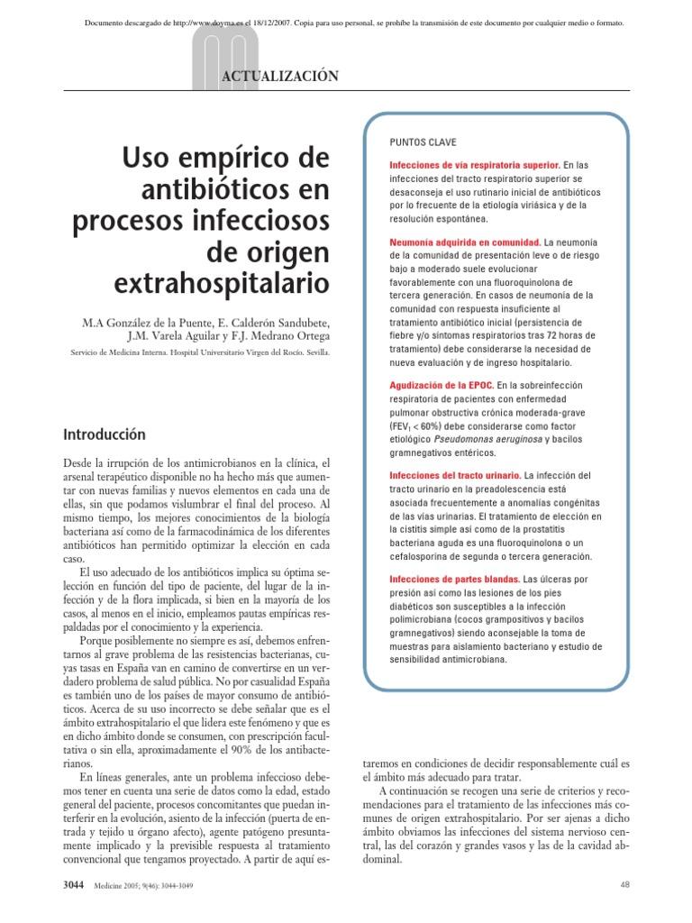 antibióticos para cistitis y prostatitis