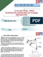 Tìm hiểu & So sánh TDMA , FDMA.