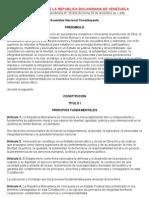 Constitucion de La Republica Bolivar Ian A de Venezuela