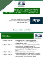 Actualizacion en Normatividad Usos Del Agua y Vertimientos - Cvc