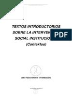 Textos Introductorios Sobre La Intervenci n Social Institucional 1
