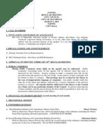 Maumelle City Council Agenda 3/3/2014