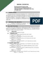 Rinconada Sur Memoria Descriptiva Subdivison Oct 2013